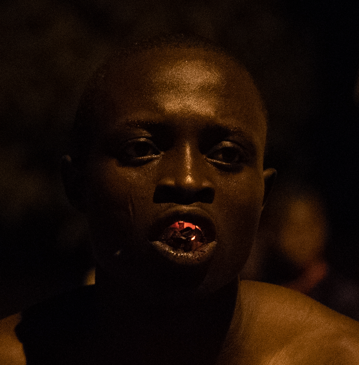 Fire Eater. Village of Kparatao, Togo
