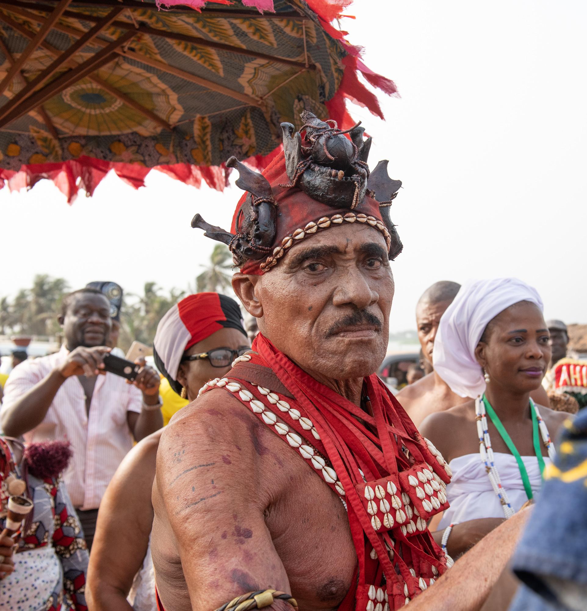 Village Chief. 2019 Voodoo Festival, Ouidah, Benin