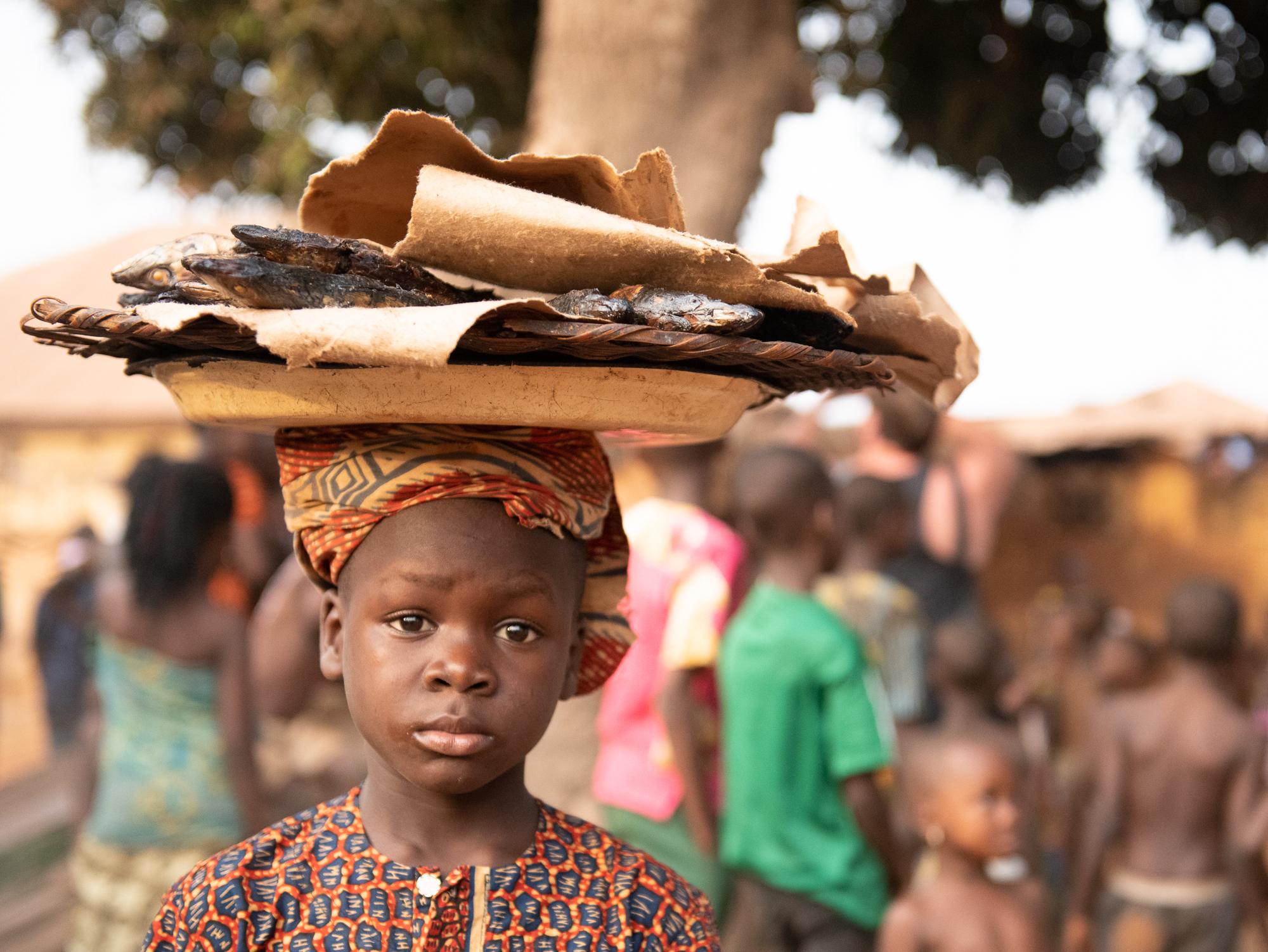Village Child. Cove, Benin