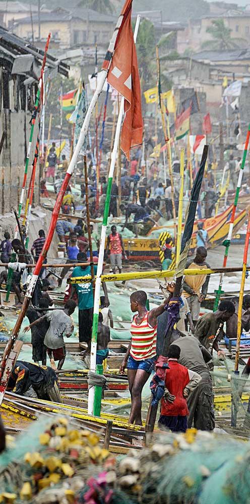 Ghana Harbor Scene