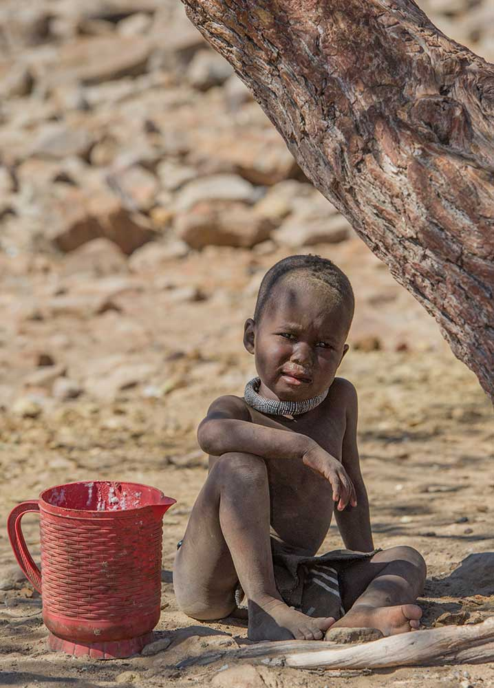 Himba Boy with Pitcher, Namibia