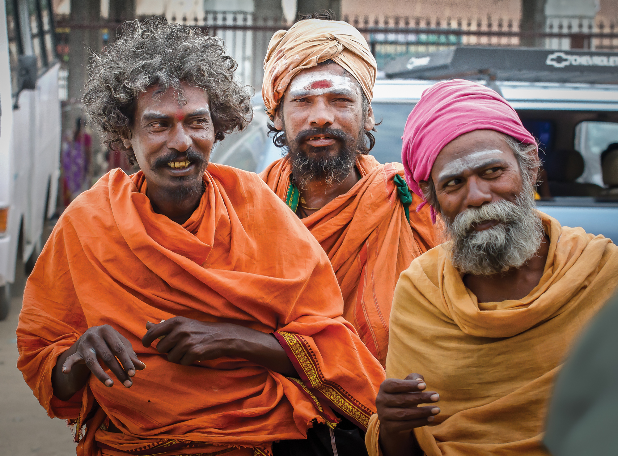 Three Sadhus, Tiruvannamalai, India