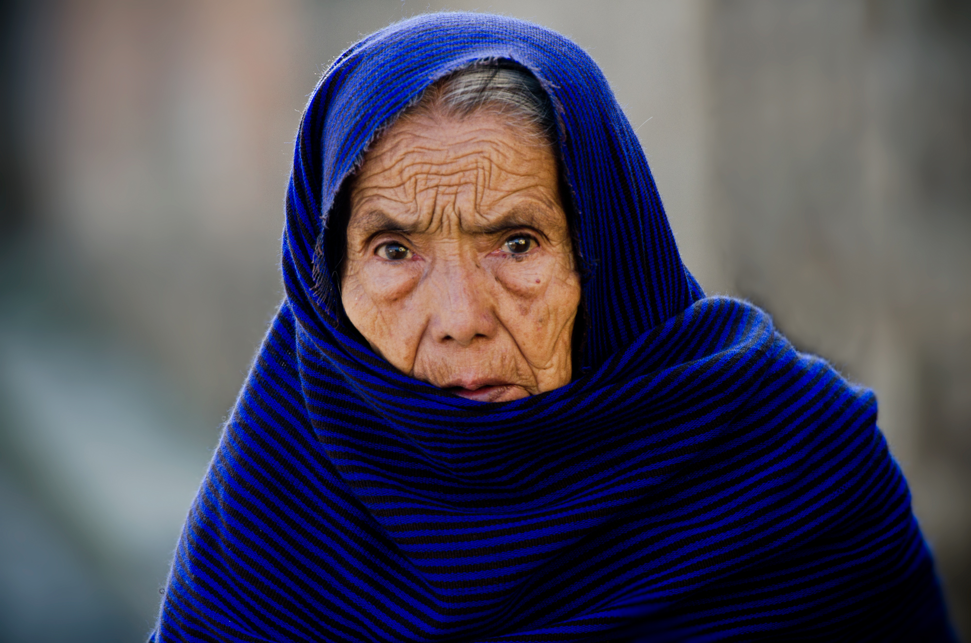 Woman in Blue, Morelia, Mexico