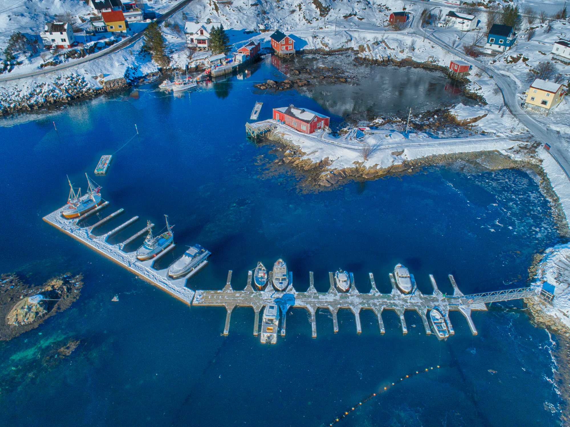 Boat Dock from the Sky - Norway