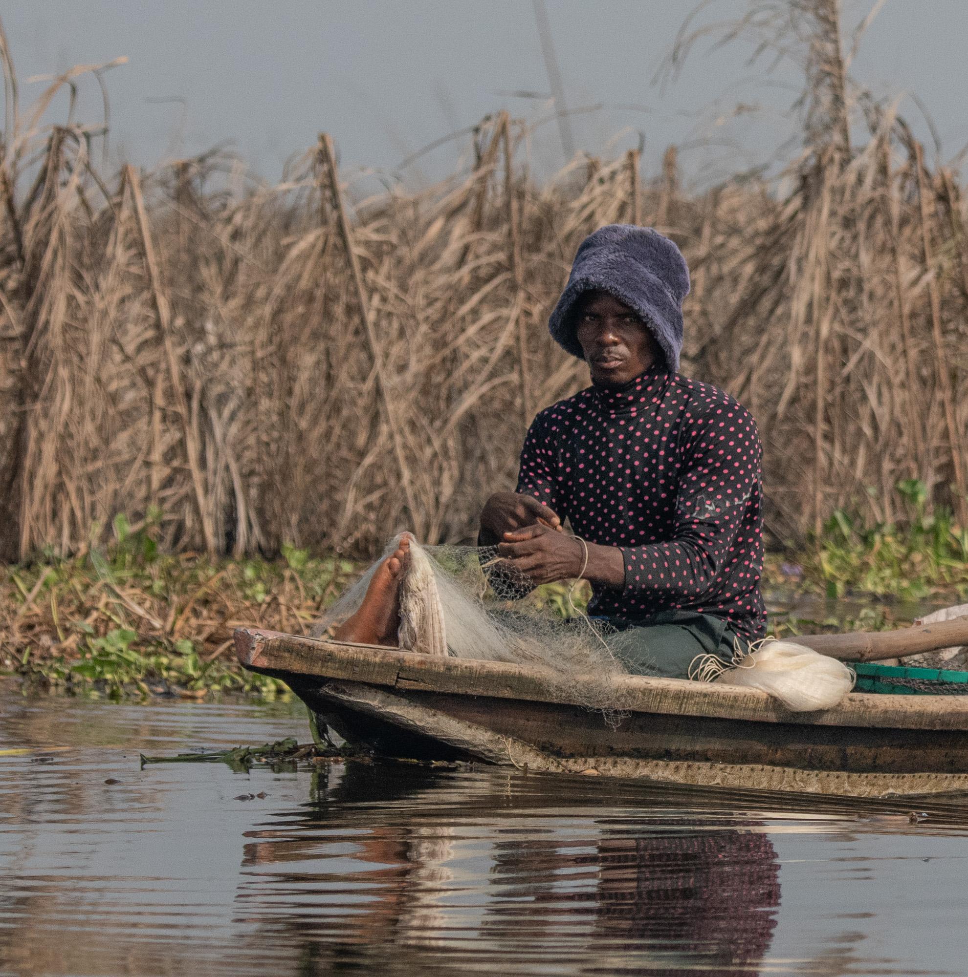 Reclusive Fisherman, Ganvie, Benin