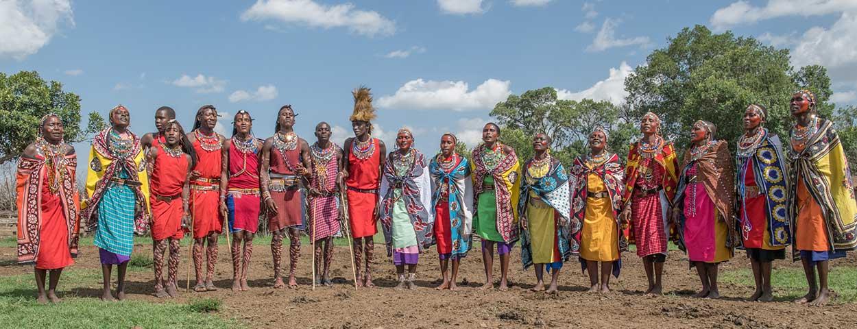 Maasai Warriors and Wives